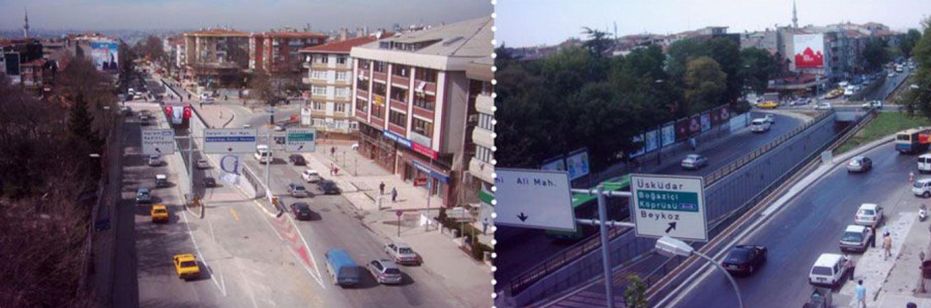 İstanbul Bağlarbaşı Kavşak Köprüsü ve Meydan Düzenlemesi İnşaatı