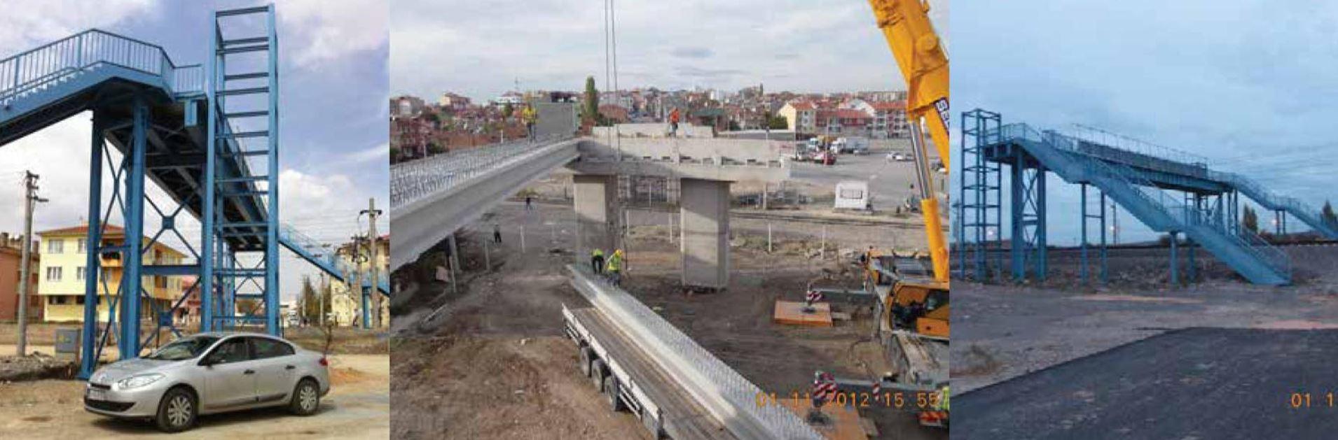 Ankara-İstanbul Yüksek Hızlı Tren Projesi Çamlıca Köprüsü, Yeşilırmak ve Ahmet Rasim Çelik Köprüleri İnşaatı